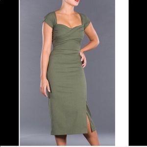 Green Wiggle Dress